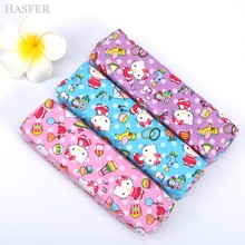 Cute Hello kitty Pencil case for girls Kawaii PU leather pencil bag for school Korean stationery pouch office school supplies(China)