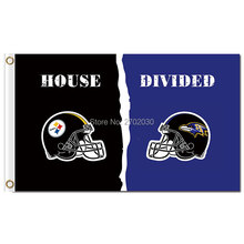 Pittsburgh Steelers Flag Vs Baltimore Ravens Banner World Series Football Team 3ft X 5ft Steelers And Baltimore Ravens Flag(China)