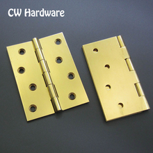 10pcs 4*3*2.5 4*4*2.5 100mm WBA1 CW Hardware Solid Brass Butt Hinges For Cabinet Door
