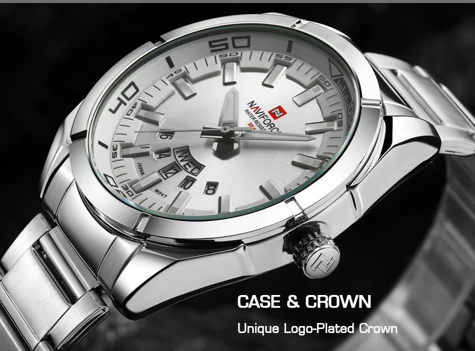 2017 NAVIFORCE Nouveau Top Marque Hommes de Montres Hommes En Acier Plein Imperméable Casual Quartz Date Horloge Mâle montre-Bracelet relogio masculino 7