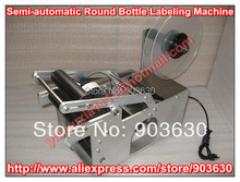 High quanlity Semi-automatic Round Bottle Labeling Machine ,bottle label sticker,Labeler Machine bottle packing machine