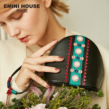 EMINI HOUSE Indian Style Shoulder Crossbody Bags For Women Leather Handbags Bags Women Famous Brand Tassel Shell Ladies Hand Bag(China)