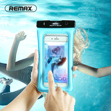 REMAX Float Airbag Design IPX8 Waterproof Dry Pouch Case Transparent Universal Waterproof Mobile Phone Cover Bag For iPhone 6 6s(China)