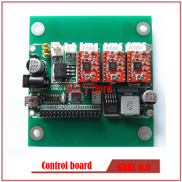 GRBL 0.9J,USB port cnc engraving machine control board, 3 axis control,laser engraving machine board<br>