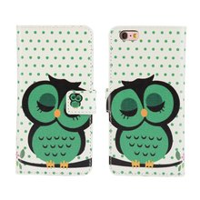 Cute Cartoon Animal Polka Dot Owl Case Cover For iPhone 6 6S Plus SE 5 5S 4 4S Wallet Leather Book Flip Purse Mobile Coque Cases