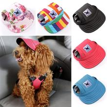 2017 Fashion Original Dog Baseball Cap Summer Canvas Puppy Small Pet Dog Cat Visor Hat Outdoor Sunbonnet 11 Patterns for Choice(China)