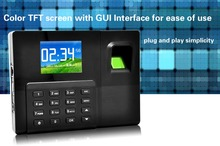 "2.8"" Color LCD Biometric Network TCP/IP Swipe Fingerprint Attendance Machine Time clock Door Access USB Flash Driver Download"