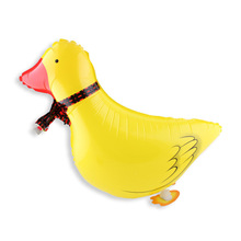61*41CM Cute Yellow Duck Balloon Walking Balloon Animals Inflatable Air Ballon Zoo Animal Theme Party Supplies Kids Classic Toy