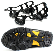 1 Pair Professional Camping Climbing Ice Crampon 24-Stud Anti Slip Ice Snow Walking Shoe Spike Grip Outdoor Equipment Promotion