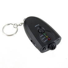 Portable Keychain Red Light LED Flashlight Alcohol Breath Tester Breathalyzer Mini Professional Key Chain Alcohol Meter Analyzer