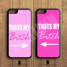 "MIKIKIN Best Friends ""thats my bitch"" Couple Cell Phone Couple Protective Case For iPhone X 8 8+ 7 7+ 6 6S Plus SE 5 5S 5C 4 4S(China)"