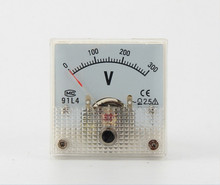 10pcs/lot New AC 0-300V Analog Voltmeter Volt Tester Voltage Monitoring Meter Gauge Free Shipping with Track Number 10001152(China)