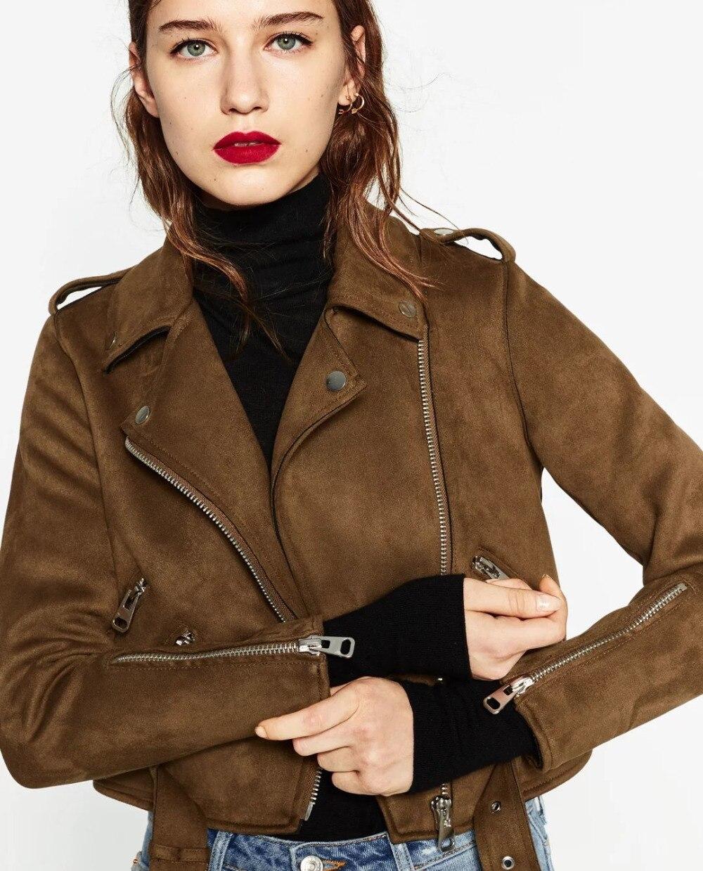 Новинка 2017 Arrial Женская на осень-зиму, куртка из искусственной кожи Модные женские Мэтт пальто, байкер-Серый Розовый Бежевый наряд(China)