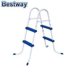 "58330 Bestway 42""/1.07m Safety Pool Ladder Specially Designed Ladder for Above Ground Swimming Pool of Height 1m Pool Staircse"