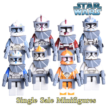 1PC Captain Rex Commander Fox Diy figures Star Wars Stormtrooper Clone Soldier Clone Trooper Building Blocks Kids DIY Toy Xmas