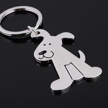 New Fashion Creative Model Dog Keychain Popular Versatile Metal Key Ring Key Chain(China)