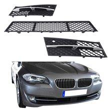 Front Bumper Center Grille + Partly Closed Grille Cover For BMW 520d 520i 520Li 523i 523Li 525d F10 F11 F18 2009-2013 #P440
