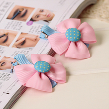 cute boutique kids girls hair ties elastic tiara bows satin flower hairbows headbands hairband floral accesories bands MT-9