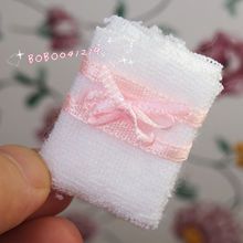 Dollhouse Miniature 1:12 Toy bathroom A White Towel L3.6cm SPO09