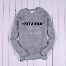 IT programmer computer game developer NVIDIA graphics logo cotton sweatshirt hedging terry clothes