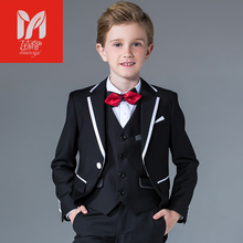Children's  boys dress in the ladies tuxedo t flower girl piano performance clothing festival presided over Suits & Blazers