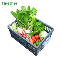 Finether Collapsible Utility Plastic Storage Container Crate Box Basket FOLD STORAGE CRATE with Detachable Waterproof Bag 28L(China)