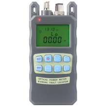 All-IN-ONE Fiber optical power meter -70 to +10dBm and 10mw 10km Fiber Optic Cable Tester Visual Fault Locator(China)