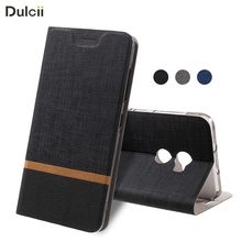 DULCII Cover for HTC One X10 Cases Bi-color Cross Texture Leather Stand Cell Phone Case Cover for HTC One X 10 Lite Bag Coque(China)