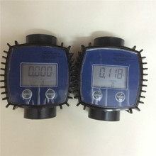 2 pcs K24 Plastic Diesel Fuel electronic magnetic turbine oil wireless water flow meter(China)