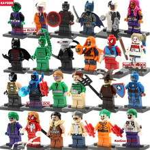 2017 new Single sale DC super heroes Batman Superman Deadpool Hydra Cap Joker Figures Building Block Kids Children Toys Gift