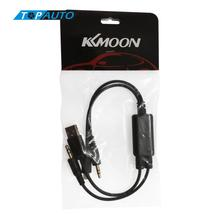 KKmoon Car Auto USB 3.5MM AUX Adapter Interface Cable for BMW MINI Cooper & for iPod iPhone 5 5S 5C(China)
