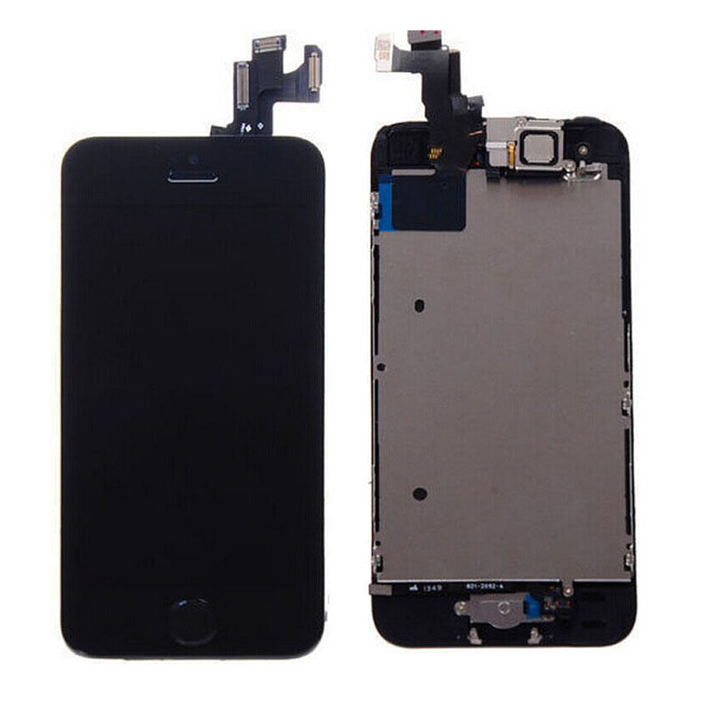 Black Full LCD Display Touch Screen Digitizer + Button Replacement Assembly for iPhone 5S High Quality Free Shipping<br><br>Aliexpress