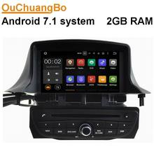 Ouchuangbo car multimedia gps for Renault Megane III 2009-2011 with android 7.1 system radio wifi Bluetooth mirror link 2GB RAM