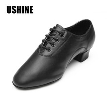 Black PU Latin Dance Shoes Man Salsa Ballroom Dancing Shoes Jazz Shoes Zapatos De Baile Latino Free Shipping