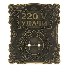 2015 New Design  Metal Magical socket The Door stickers decorations meaning the Genuine happiness and good luck Souvenir