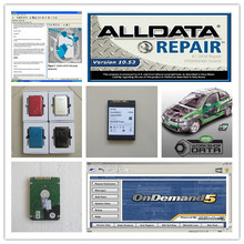all data repair alldata 10.53 mitchell ondemand5.8 vivid workshop data truck and car auto software 3in1 hdd 750gb(China)