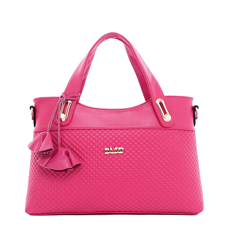 Womens Saffiano Handbags Hot Sale High Quality Lolita Style Floral Pattern Handbag&amp;Crossbody Bag bolsa feminina Hot Pink ST9225<br>