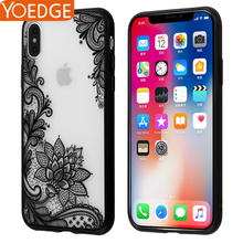 Luxury Sexy Lace Floral Henna Mandala Palace Flowers Phone Case For iPhone 5S Cover For iPhone X 8 5 SE 6 6S 7 Plus(China)
