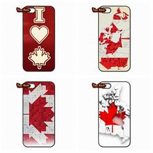 For iPhone 4 4S 5 5C SE 6 6S 7 Plus Galaxy J5 A5 A3 S5 S7 S6 Edge Canada Flag Keep Calm I'm Canadian Case Cover