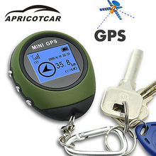APRICOTCAR Mini GPS Positioning Tracker Handheld Portable Keychain Travel Satellite Locator Outdoor Adventure Vehicle Pathfinder(China)