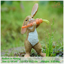 Everyday Collection easter decorations for home new year cute rabbit figurines miniature tabletop ornaments Fairy garden(China)