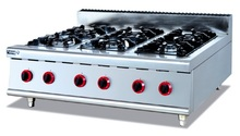 Stainless steel gas range (6-Burners) ,Counter Top commericial Gas Stove multi-cooker gas cooktop(China)
