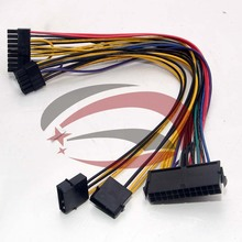 ATX 24P IDE 4P Molex to 18P 10P Converter Power Lead Cable Cord for HP Z800 Workstation Motherboard(China)