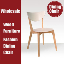 New white dining chair,wood chairs, Dining Room Furniture wooden furniture(China)