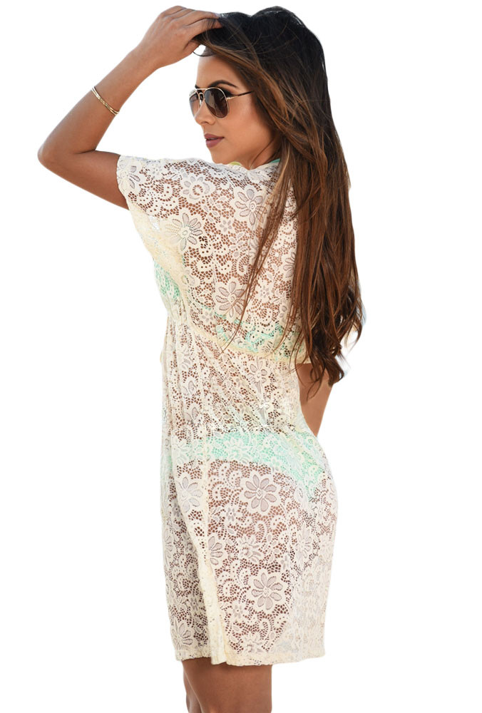 Yellow-See-through-Lace-Cover-Up-Dress-LC42054-7-2