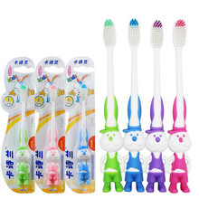 4 PCS Good Quality Kids Toothbrush Cartoon Rabbit Antibacterial Soft Toothbrush Tongue Cleaner Travel Toothbrush