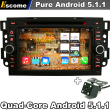 Pure Android 5.1 Car DVD Player For Chevrolet Captiva 2005 - 2012 Spark Optra 2002-2011 with GPS Car Autoradio Rear View Camera(China)