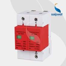 Saipwell 2014 New Power Surge Protector 30KV-60KV Protective Low-voltage Arrester Device SP-B30 2P High Quality(China)