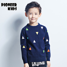 Pioneer Kids 2016 New Brand Sweater kids Pullover Wool Knitted O-neck Long-sleeve autumn/winter School Boys Sweater Children