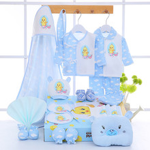 2017 NEW Summer  Baby Clothes Set Baby Cotton Long Sleeve Fashion Baby Character Blue Yellow Pink Color For 0-12 month